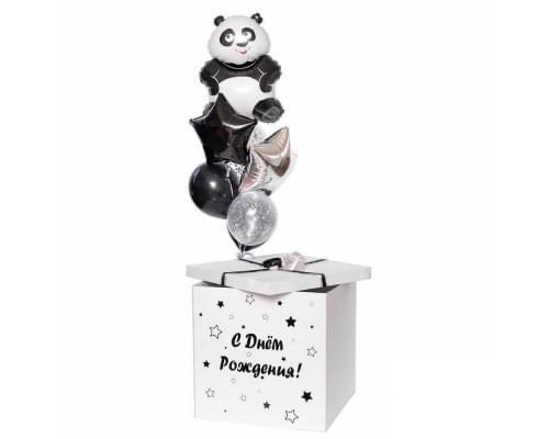 Коробка-сюрприз с шариками и Пандой