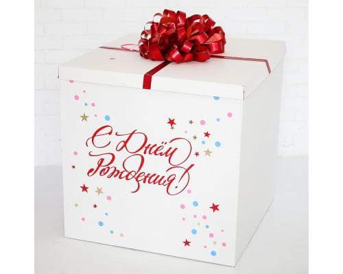 Коробка для шаров с надписью