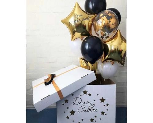 Коробка сюрприз с шарами на ДР