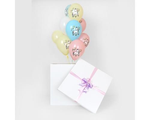 Коробка-сюрприз девочке на День Рождения с единорогами