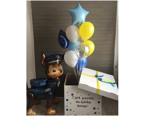 Коробка с шариками и ходячей фигурой Щенячий Патруль