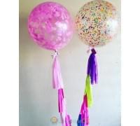 Большие шары с конфетти Карнавал