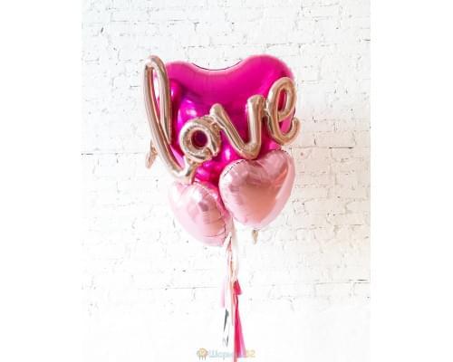 Большие шары Сердца с Любовью.