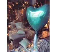 Большой фольгированный шар Бирюзовое Сердце