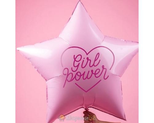 Большой фольгированный шар звезда Girl Power