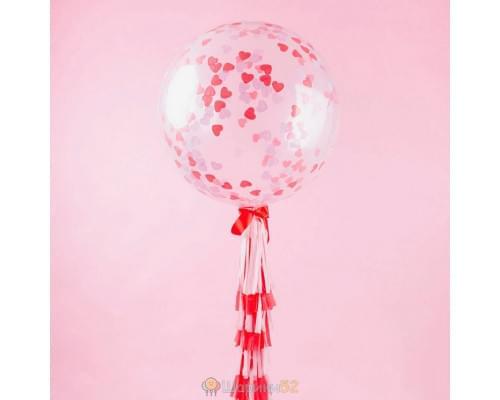Большой шар с конфетти Сливки и карамель