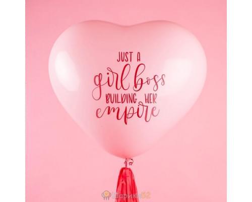 Большой шар Сердце Girl Boss