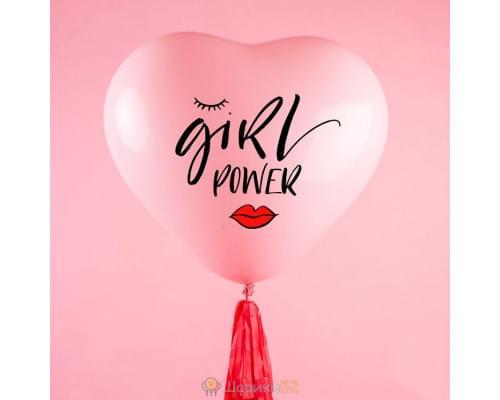 Большой шар Сердце Girl Power