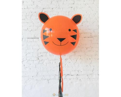 Большой шар Тигр на гирлянде
