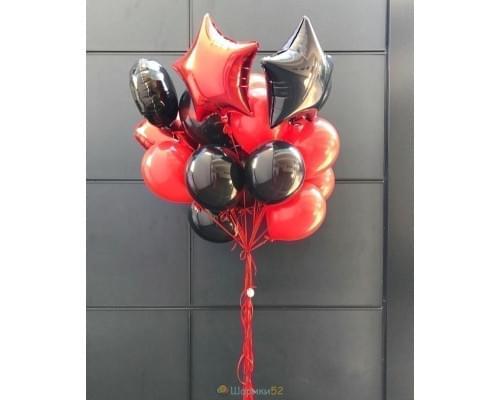 Букет из красных и черных шаров