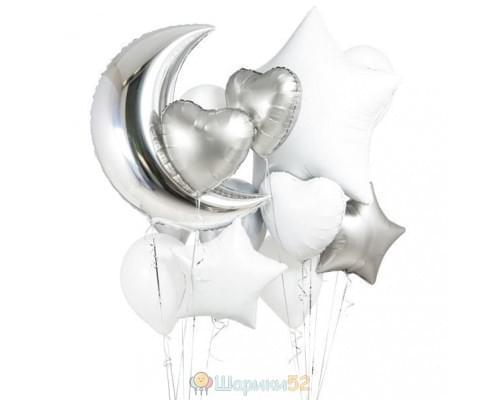 Букет из шаров «Белая ночь»