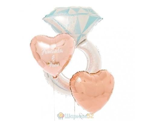 Букет из шаров «Свадебный день»