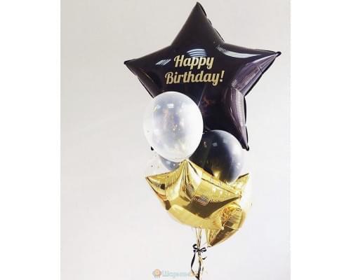 Букет из шаров HAPPY BIRTHDAY