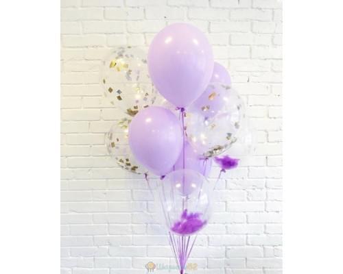 Букет из шаров Фиолетовые перья