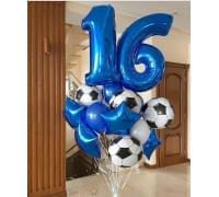 Букет из шаров Футбольный