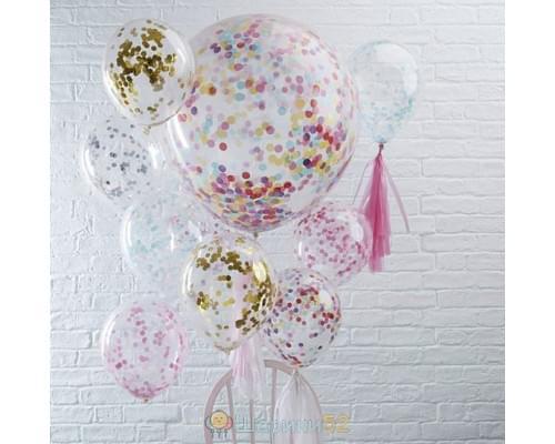 Букет из шаров Мульти конфетти