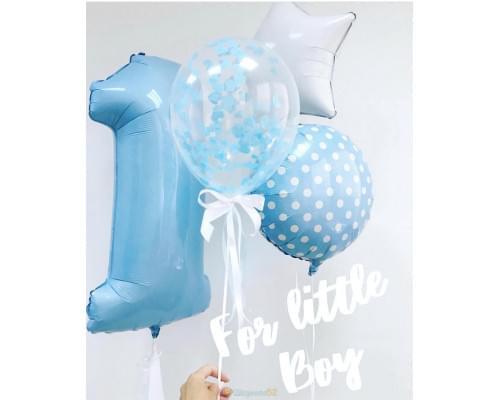 Букет из шаров на 1 год мальчику