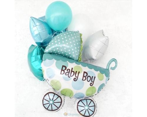 Букет из шаров на рождение мальчика