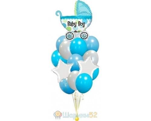 Букет из шаров на выписку для мальчика