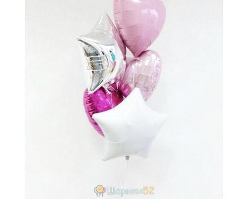 Букет из шаров Сердце звезды