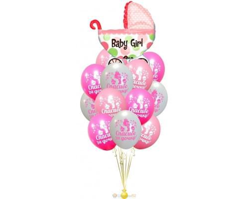 Букет из шаров спасибо за дочку