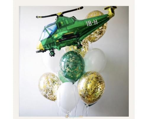 Букет из воздушных шариков на 23 февраля
