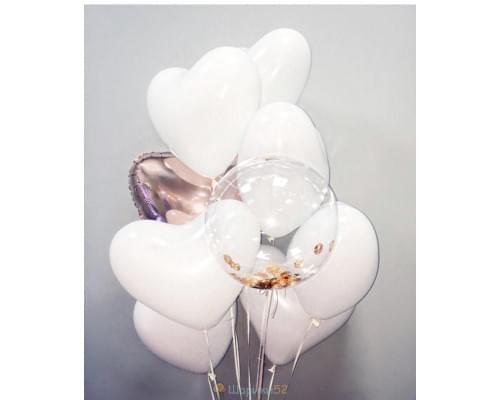 Букет из воздушных шаров Мечта влюбленных