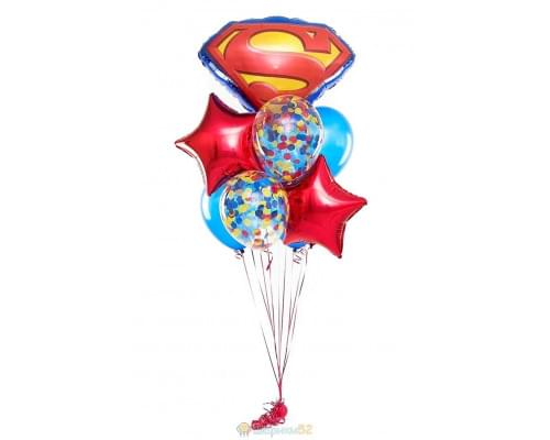 Букет из воздушных шаров Супермен