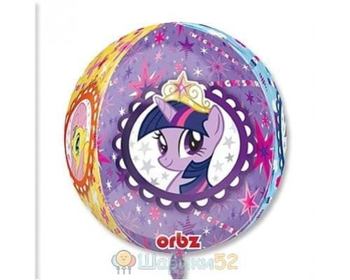 """Фольгированный шар My Little Pony 3D СФЕРА 16"""""""