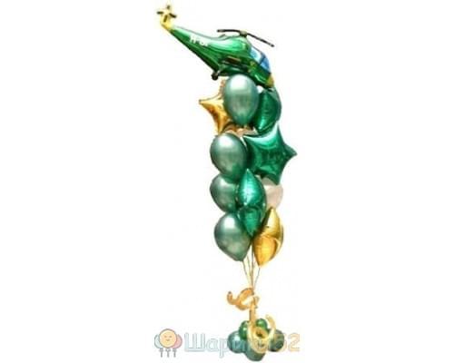 Фонтаны из воздушных шаров на 23 февраля