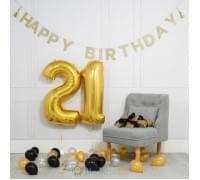 Готовое решение «День рождения» золотое и черное