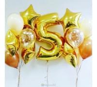 Готовое решение с днем рождения Карамельно-золотой