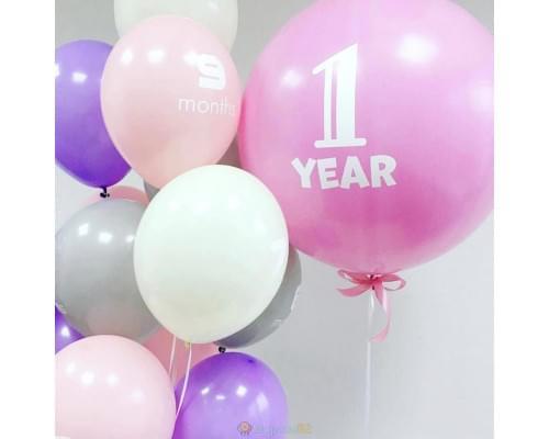 Готовое решение Зефирные шарики на годовасие