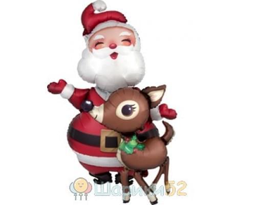 Ходячий шар Санта и Олень