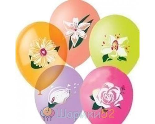 Облако шариков Цветы 25 шт
