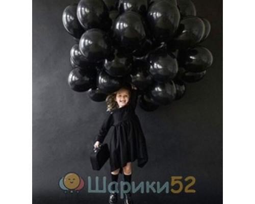 Облако шаров черных пастель 15 шт