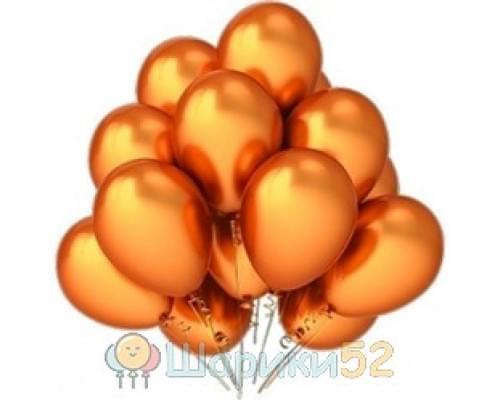 Облако шаров оранжевых металлик 15 шт