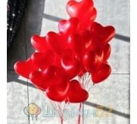 Облако шаров Пламенное Сердце 15 шт