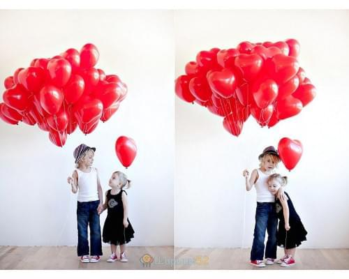 Облако шаров Сердца Маленькие 15 шт
