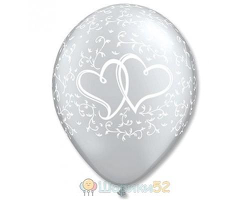 Облако шаров Сердца переплетенные 25 шт