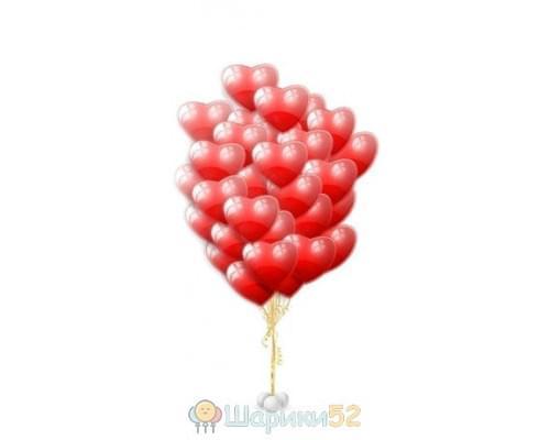Облако шаров Сердца Средние 15 шт