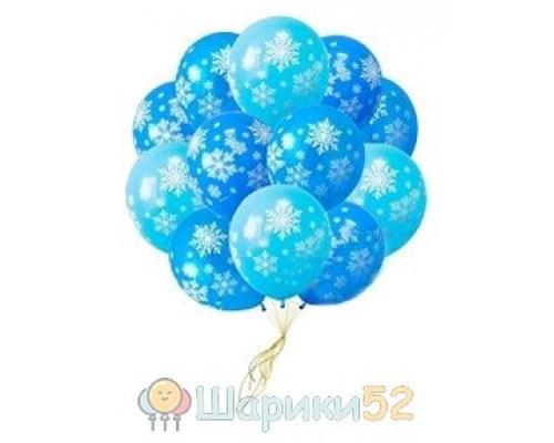 Облако шаров Снежинки 25 шт
