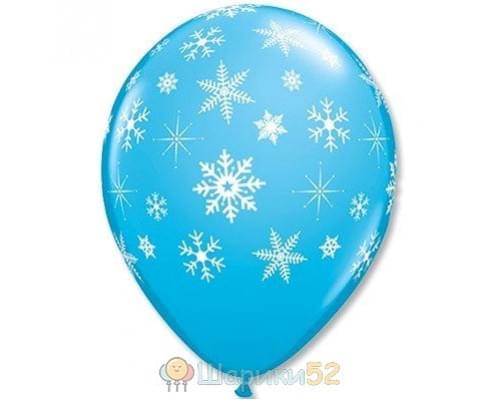 Облако шаров Снежинки RobEggBlue 25 шт