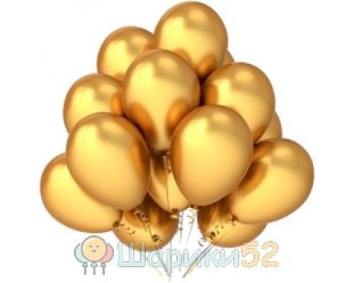 Облако шаров золотых металлик 15 шт