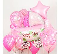 "Набор шаров ""Baby Girl"""