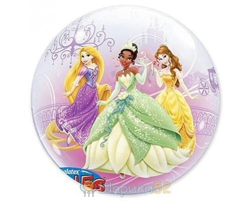 """Шар 22"""" bubble Disney Принцессы"""