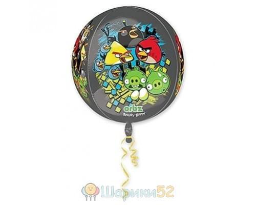 "Шар 3D СФЕРА 16"" Angry Birds"