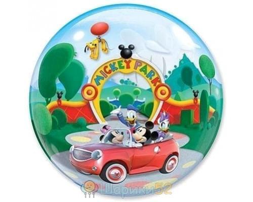 "Шар BUBBLE 22"" Disney Микки-парк"