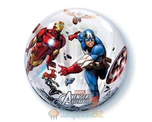 "Шар BUBBLE 22"" Marvel Мстители"