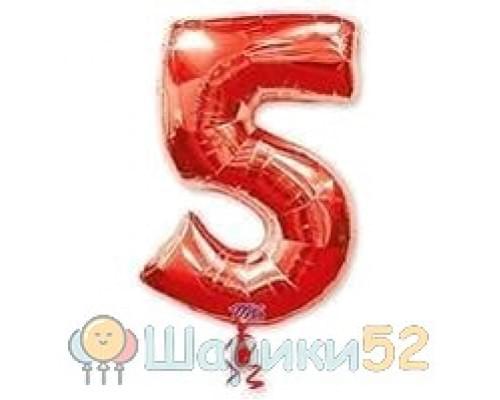Шар фигура цифра 5 Red